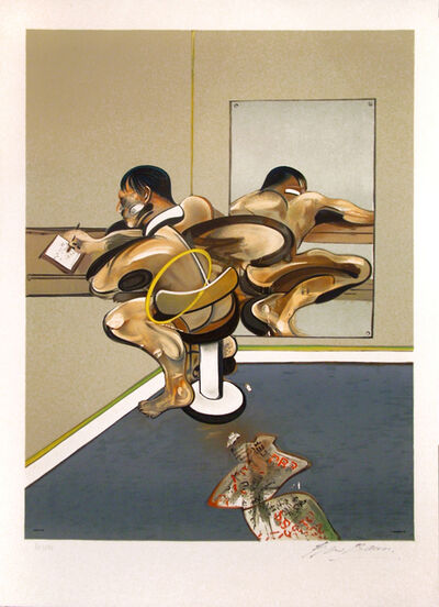 Francis Bacon, 'Figure Writing Reflected on Mirror', 1976