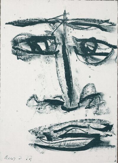 "Sam Francis, 'Self-portrait from ""Anima Portraits"" series', 1973"