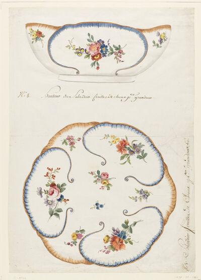 """Sèvres Porcelain Manufactory, 'Design for a Painted Porcelain: """"Cabbage Leaf"""" Salad Bowl, for Sèvres Porcelain Manufactory', 1760-1775"""