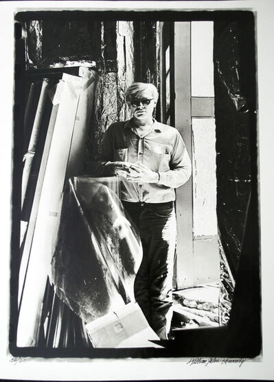 William John Kennedy, 'Andy Warhol unrolling his original Marylin acetate for the first time (2 of 4)', 1964