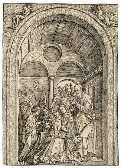 Albrecht Dürer, 'The Holy Family with two angels in a vaulted hall', circa 1503-1504