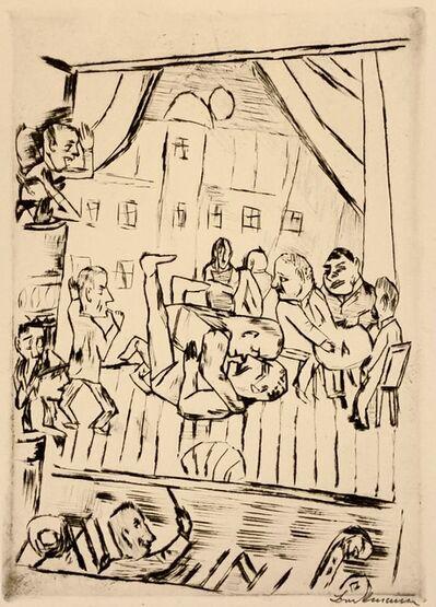 Max Beckmann, 'Die Ringer, The Wrestlers', 1921