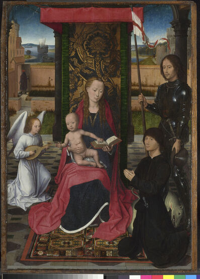 Hans Memling, 'The Virgin and Child with an Angel, Saint George and a Donor ', ca. 1480