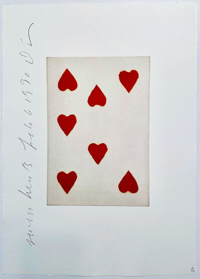Donald Sultan, 'Playing Cards: Seven of Hearts', 1990