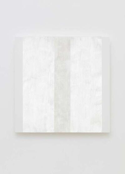 Mary Corse, 'Untitled (White Narrow Inner Band with White Sides, Beveled)', 2020