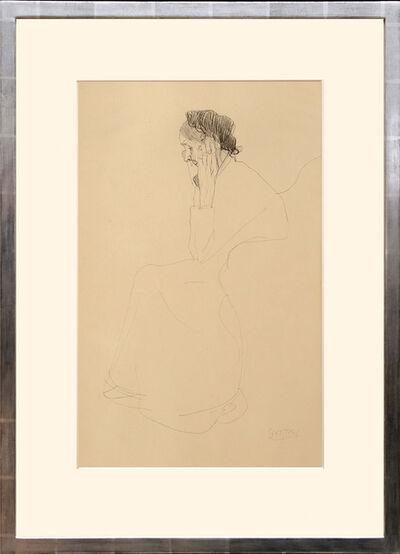 Gustav Klimt, 'Studie einer alten Frau. (Study of an Old Woman.)', 1919