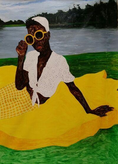 Amoako Boafo, 'Picnic Girl', 2018
