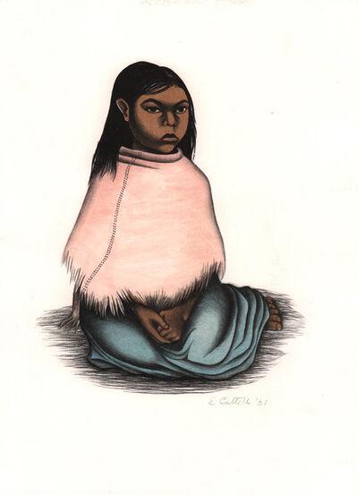 Elizabeth Catlett, 'Nina Sentada', 1951