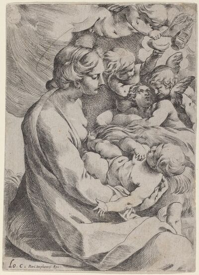 Lodovico Carracci, 'Madonna and Child with Angels', 1595/1610