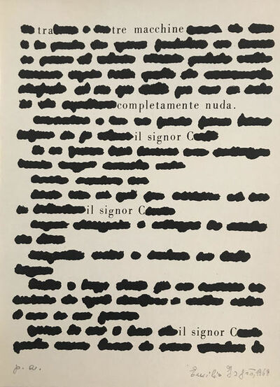 Emilio Isgrò, 'Tre', 1968