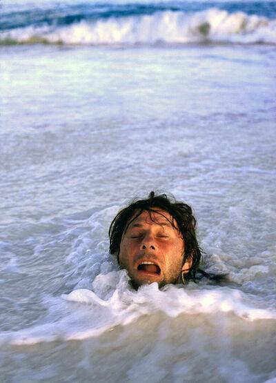 Harry Benson, 'Polanski in Sand, Seychelles', 1976