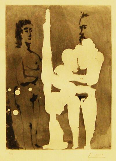 Pablo Picasso, 'Peintre Debout a son Chevalet, avec un Modele', 1965