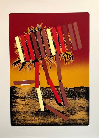 Menashe Kadishman, 'Israeli Modern Pop Art Photo Silkscreen Serigraph Palm Trees Kadishman', 1970-1979