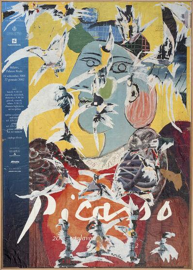 Mimmo Rotella, 'Picasso lacerate', 2001