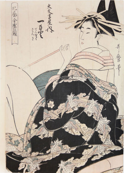 Kitagawa Utamaro, 'Courtesan Hitomoto from the House of Daimonjiya', ca. 1805