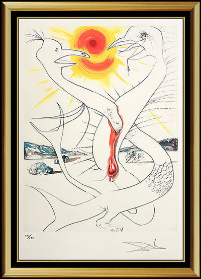 Salvador Dalí, 'Salvador Dali Color Lithograph Hand Signed Surreal Artwork Conquest of Cosmos', 1974