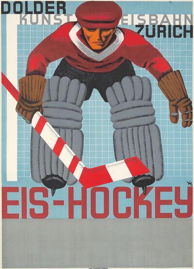 Alex W Diggelmann, 'Eis-Hockey.', 1935