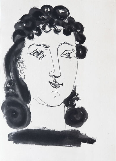 Pablo Picasso, 'Head of a woman with curly hair', 1948
