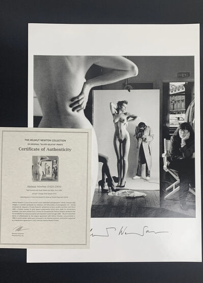 Helmut Newton, 'Self Portrait with Models and June (handsigned edition)', 1981