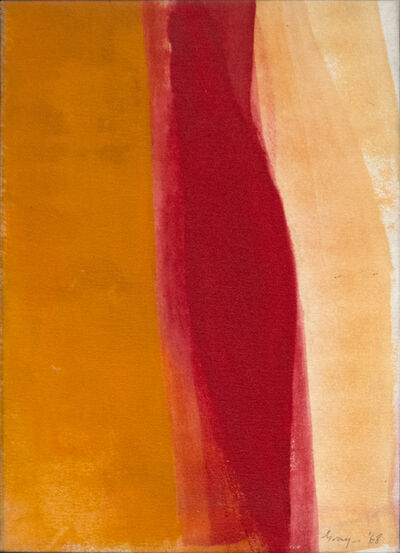 Cleve Gray, 'Red Traverse', 1968