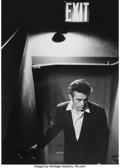 Roy Schatt, 'James Dean Under Exit Sign', circa 1954