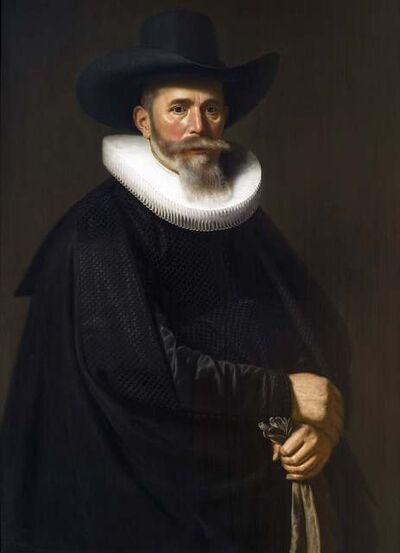 Dirck Dircksz. van Santvoort, 'A Portrait of a Bearded Gentleman, Holding a Pair of Gloves in his Left Hand', ca. 1635-40