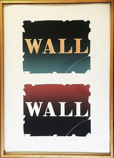"Robert Indiana, '""WALL TO WALL"" FROM WALL: TWO STONE SUITE IV,  WITH TWO ORIGINAL INK DRAWINGS VERSO', 1990"