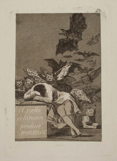 Francisco de Goya, 'El sueño de la razon produce monstruos', 1797-1799