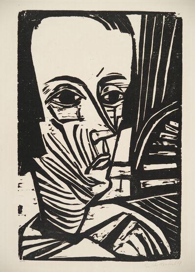 Erich Heckel, 'A. N. (Portrait Asta Nielsen)', 1919