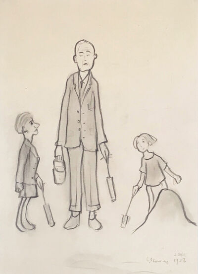 Laurence Stephen Lowry, 'Beachcombers', 1956