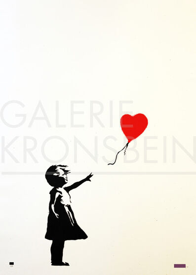 Banksy, 'Girl with Balloon signed', 2004