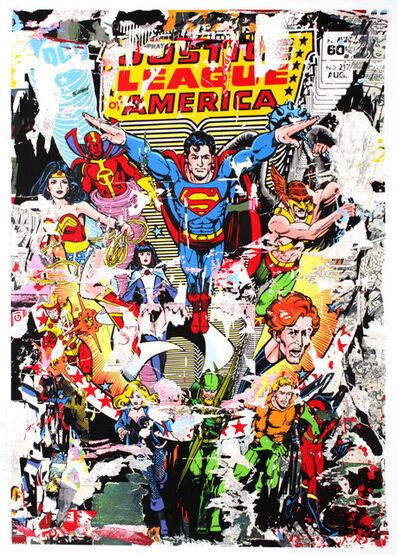 Mr. Brainwash, 'The Heroes (Justice League / Superman)', 2017