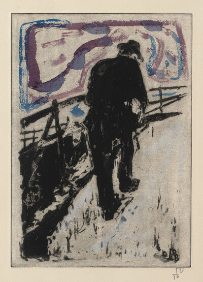 Billy Childish, 'Man Walking Up a Snowy Slope', 2010