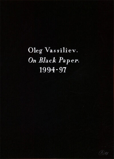 "Oleg Vassiliev, 'The album ""On black paper"" (86 sheets)', 1994-1997"