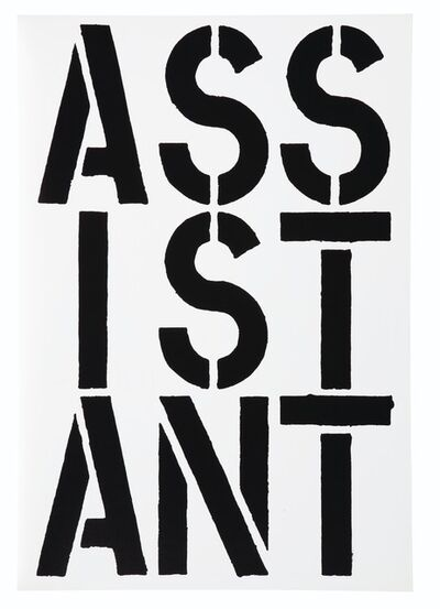 Christopher Wool, 'Assistant (Black Book)', 1989