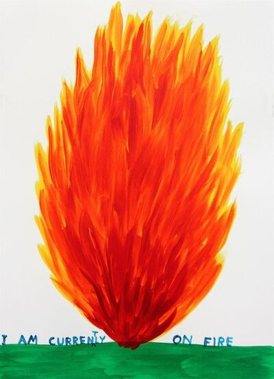 David Shrigley, 'I Am Currently on Fire', 2018