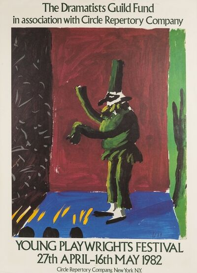 After David Hockney, 'A poster for Young Playwrights Festival', 1982