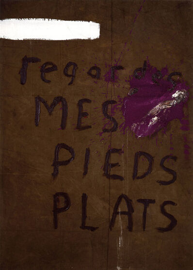 Julian Schnabel, 'Regardes Mes Pieds Plats No. 2', 1990