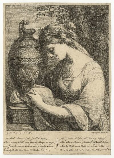 Angelica Kauffmann, 'Girl with an Urn, in Memory of General Stanwyck's Daughter', 1766