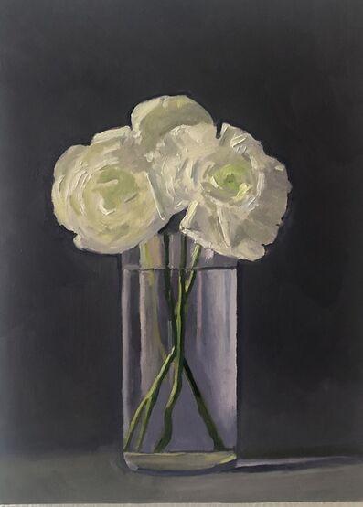 Dan McCleary, 'White Ranunculus #1', 2019