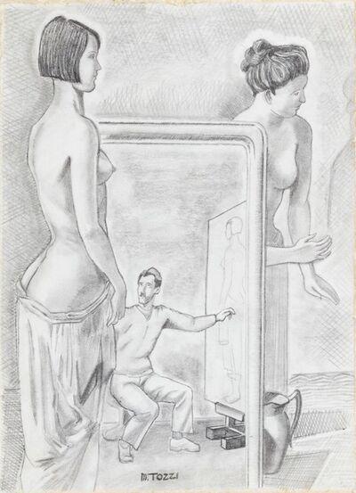 """Mario Tozzi, 'Studio per il dipinto """"L'Officina dei Sogni""""', 1929"""