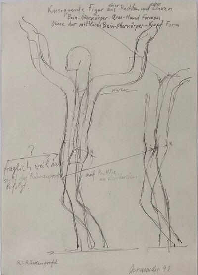 Joannis Avramidis, 'Bein-Oberkörper-Arm-Hand Figur', 1992