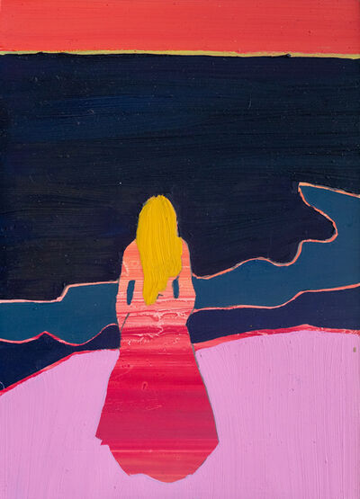Tom Hammick, 'Woman Looking Out to Sea (After Munch)', 2020