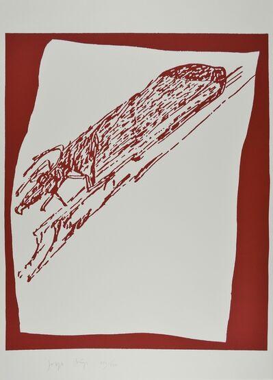 Joseph Beuys, 'Hirsch auf Urschlitten', 1980-1990