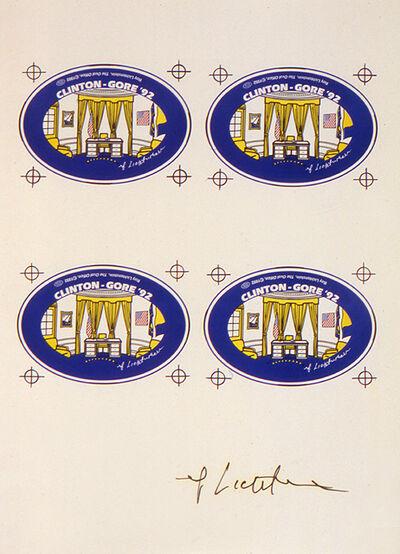 Roy Lichtenstein, 'Untitled (Decals for the Campaign '92 Button)', 1992