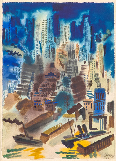 George Grosz, 'Untitled (New York Harbor)', 1936