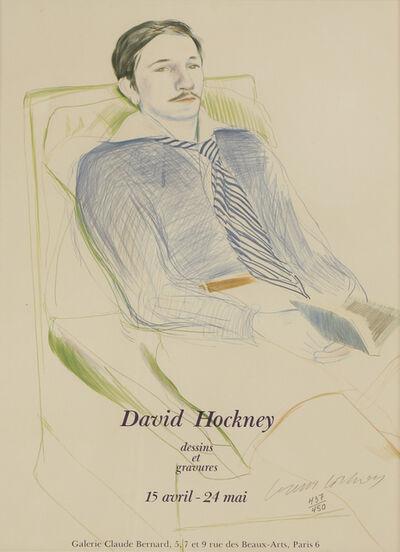 After David Hockney, 'Dessins Et Gravures Exhibition Poster', 1975