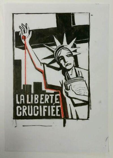 Tomi Ungerer, 'Liberté Crucifiée', January 9-2015