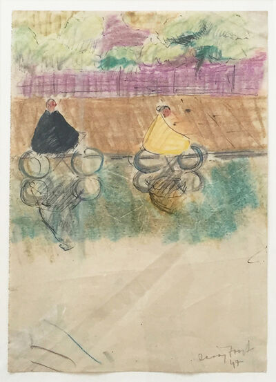 Sir Terry Frost, 'Cyclists, Battersea', 1947