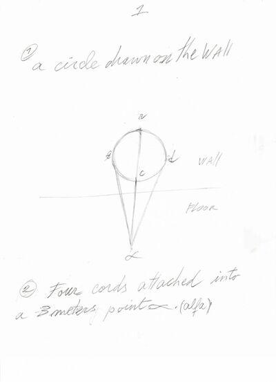 David Lamelas, 'Instrucciones para Situación de un círculo en dirección al alfa', 2018